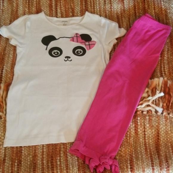 GYMBOREE PANDA ACADEMY ORANGE PANDA HEART LEGGINGS 6 12 18 24 2T 3T 4T NWT